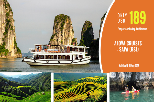 Alova Cruises day tour & Sapa tour together to get the big offer from Go Asia Travel