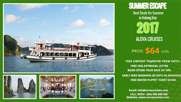 Best Deals for Summer in Halong Bay 2017 with Alova  Day Cruise