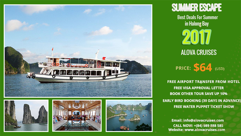 Best Deals for Summer in Halong Bay 2017 with Alova  Day Cruises